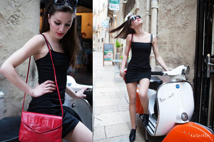 Gena en scooter à Montpellier