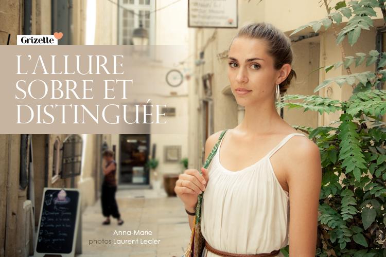 Anna-Marie dans les ruelles de Montpellier