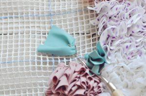 DIY tapis Boucherouite