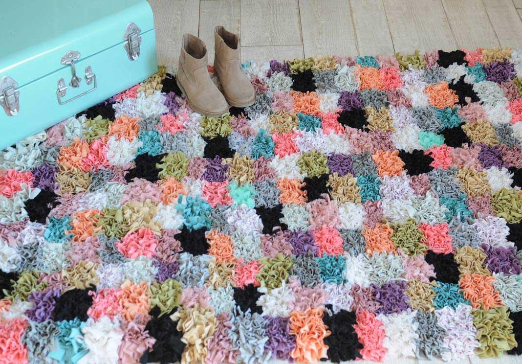 Boucherouite Tapis diy ethnique avec zess : le tapis boucherouite - grizette