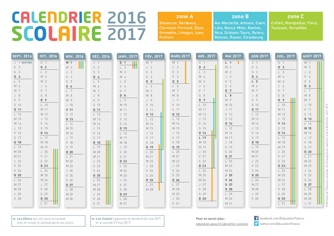 calendrier scolaire allemand