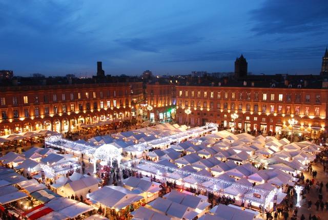marché de noël à Toulouse