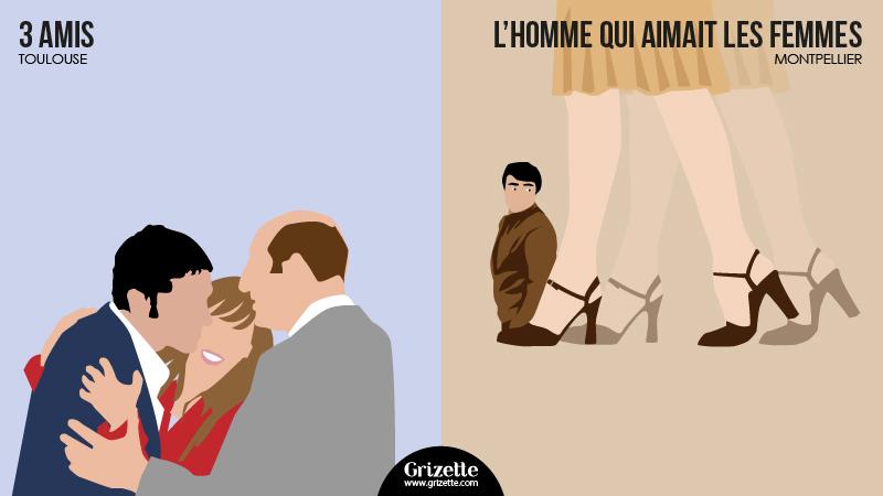 Toulouse vs Montpellier - 3 amis vs L'homme qui aimait les femmes