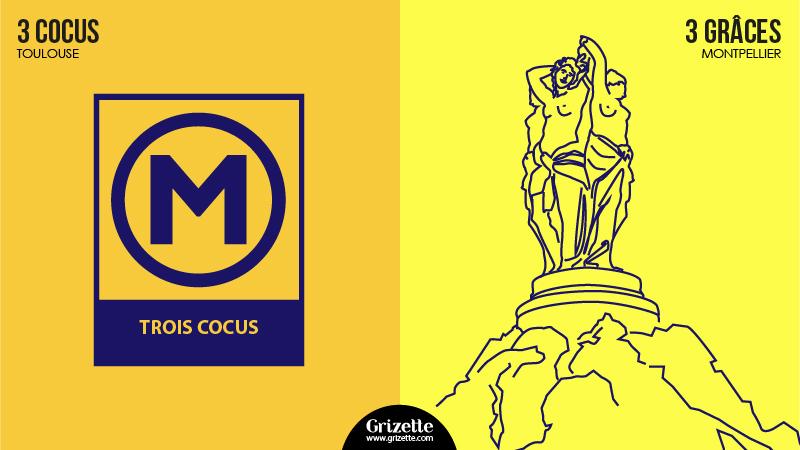 Toulouse vs Montpellier - 3 cocus vs 3 Grâces