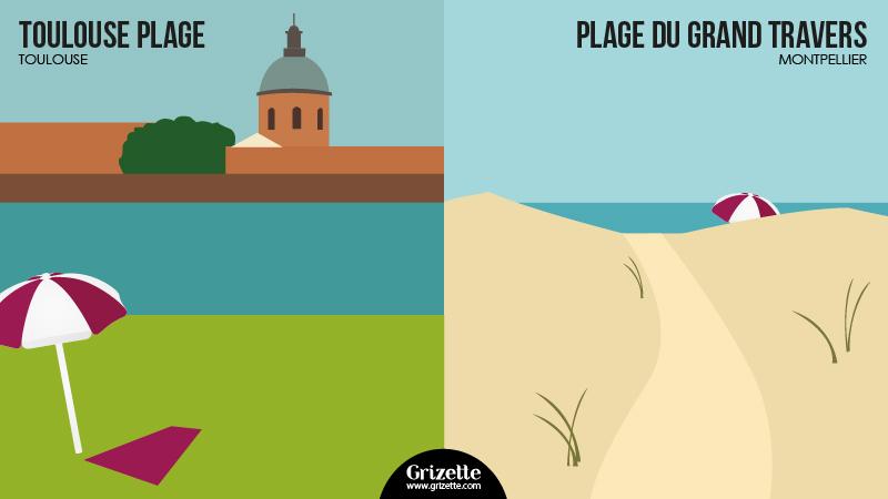 Toulouse vs Montpellier - Toulouse plage vs Grand Travers