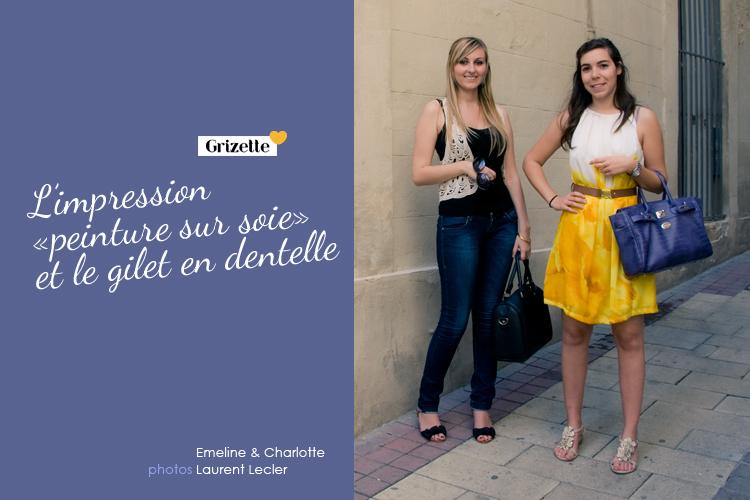 Charlotte et Emeline dans les rues de Montpellier