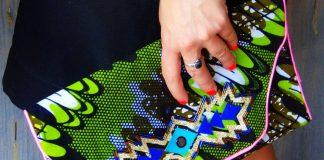 DIY pochette funky african kilim
