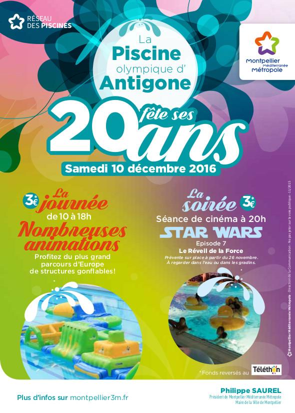 Des animations pour les 20 ans de la piscine d 39 antigone for Piscine antigone