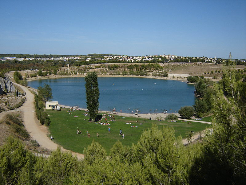 lac et rivière à Montpellier
