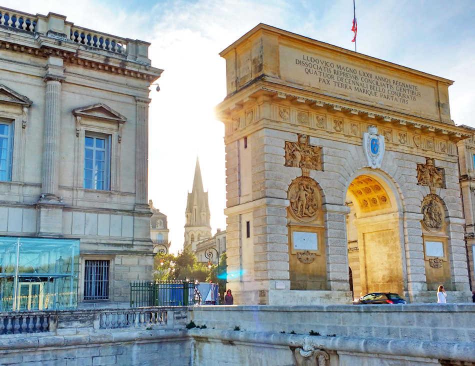 Arc de triomphe Écusson Montpellier
