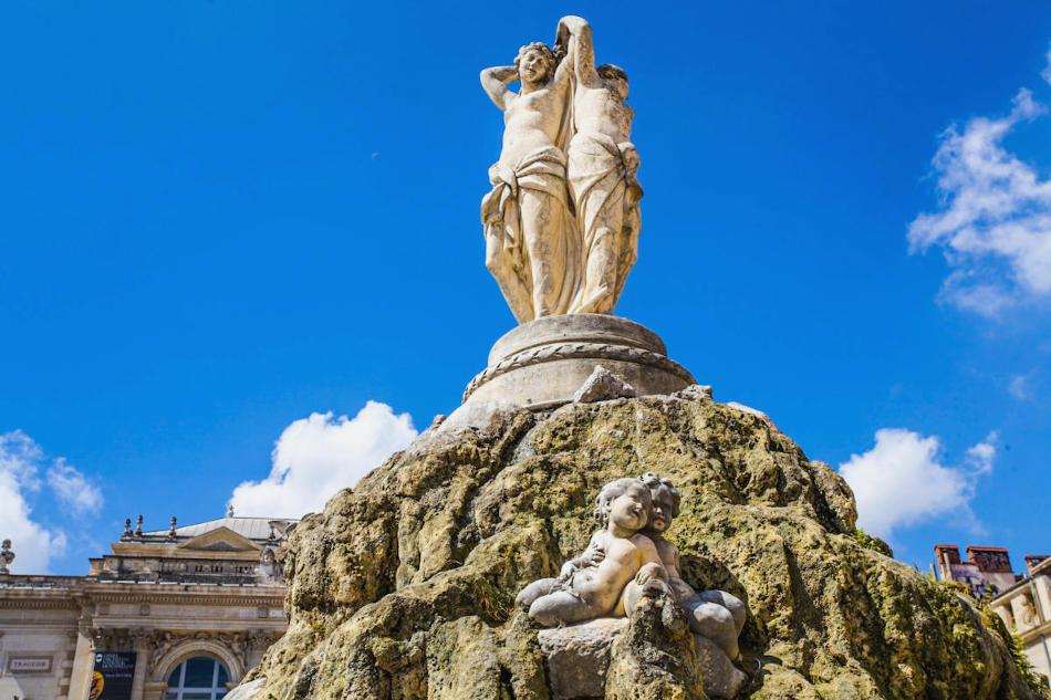 Fontaine des 3 Grâces Écusson Montpellier