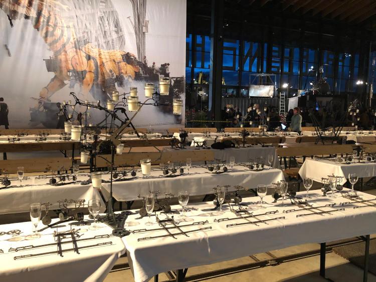 Dîner des Petites Mécaniques à la Halle de La Machine à Toulouse
